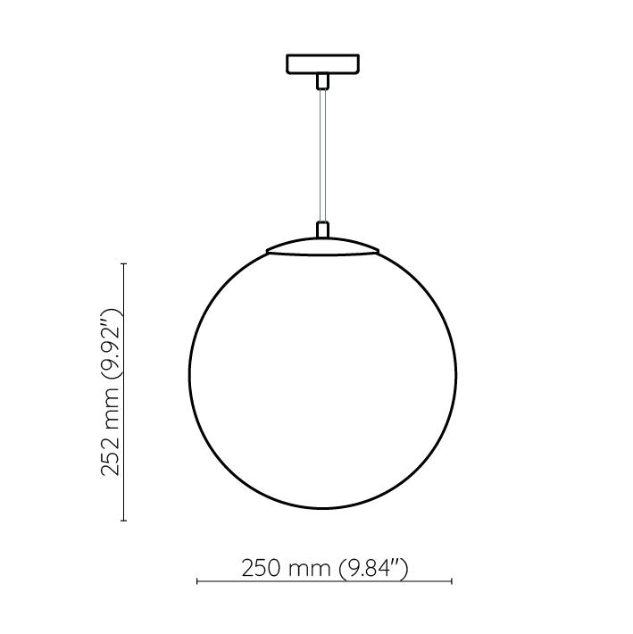 lampa kula 25cm