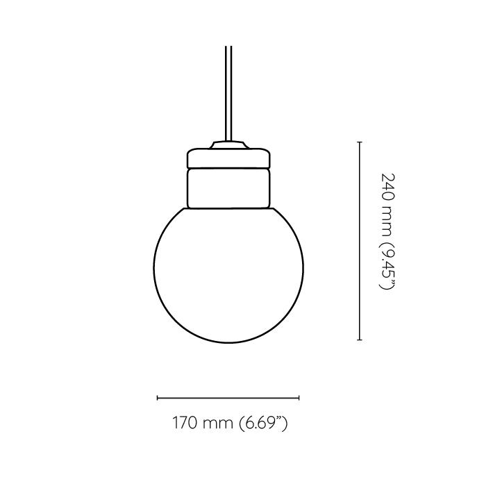 mała wisząca lampa korkowa Kula