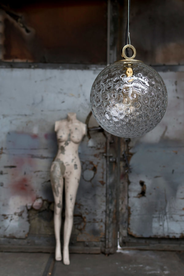 Szklana Lampa Kula Reflesyjna z pierścieniem 1