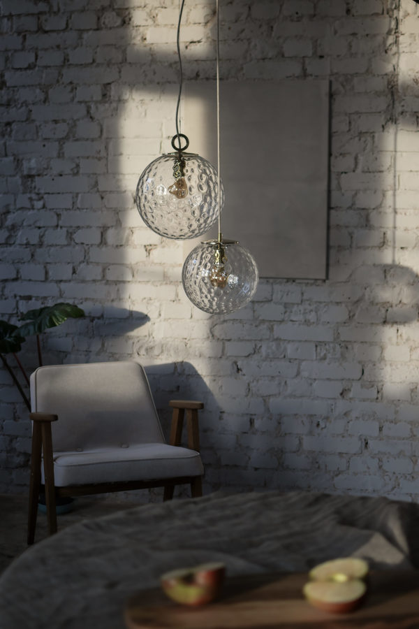 Szklane lampy wiszace kule Reflesyjne 1
