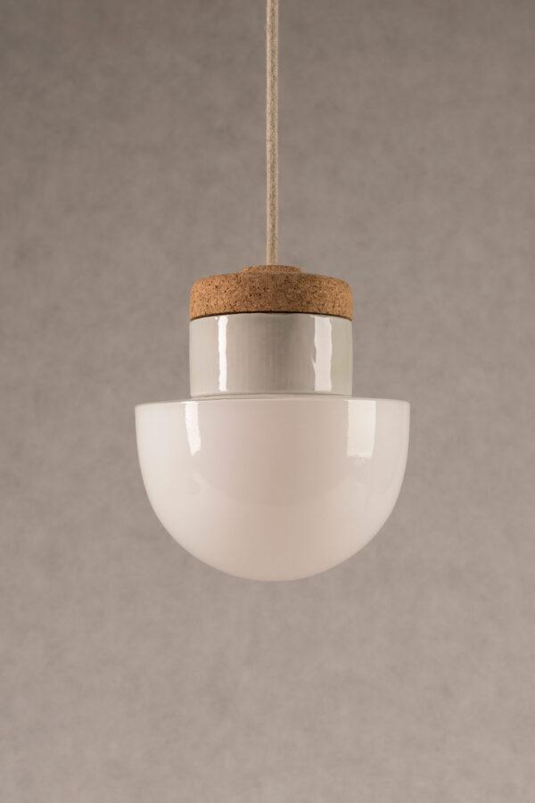 mała wisząca lampa korkowa Grzybek 2