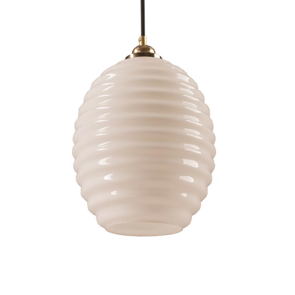 Szklana Lampa Wisząca Ul Opalowy 1