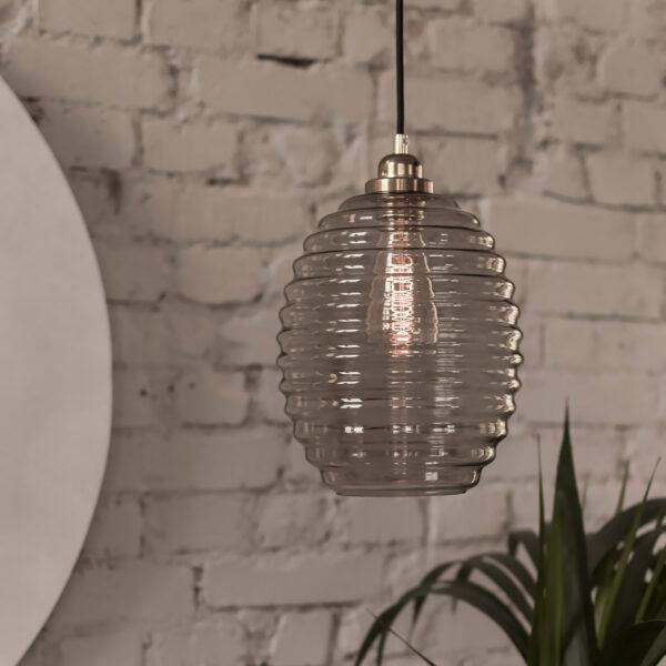 Lampa Ul ze szkłą dymionego