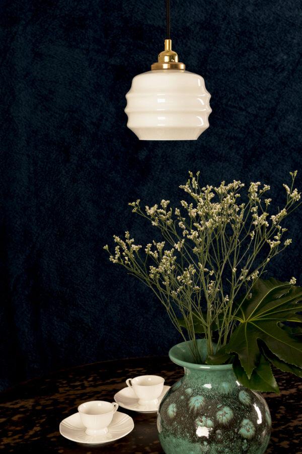 Mały Ul szklana lampka wisząca z mosiądzem 2