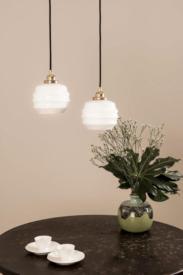 małe Ule białe lampy wiszące ze szkła
