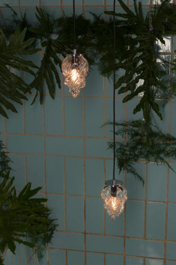 Szklane małe lampy wiszące Płomyk