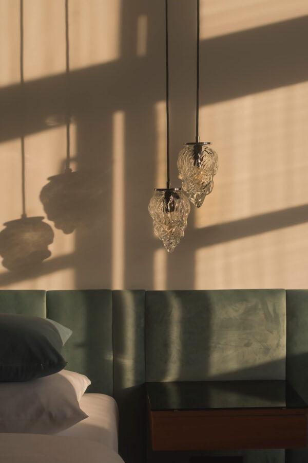 Szklane małe lampy wiszące Płomyk 3