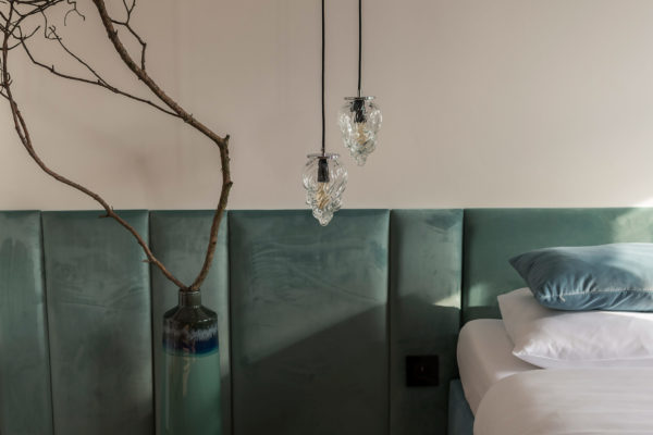Szklane małe lampy wiszące Płomyk 2