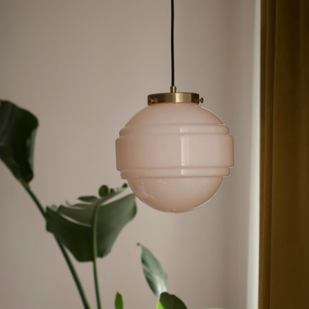 Szklana lampa wisząca Saturn