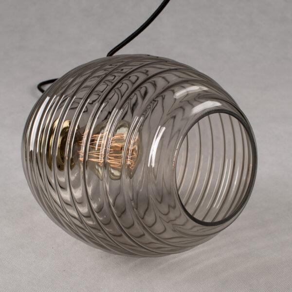 Szklana lampa wisząca dymiony ul