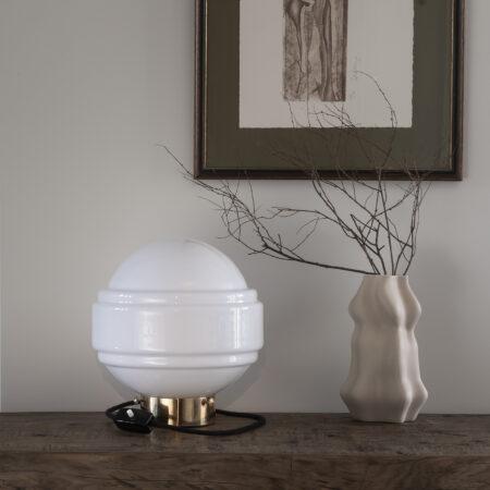 Szklana Lampa Stołowa Saturn