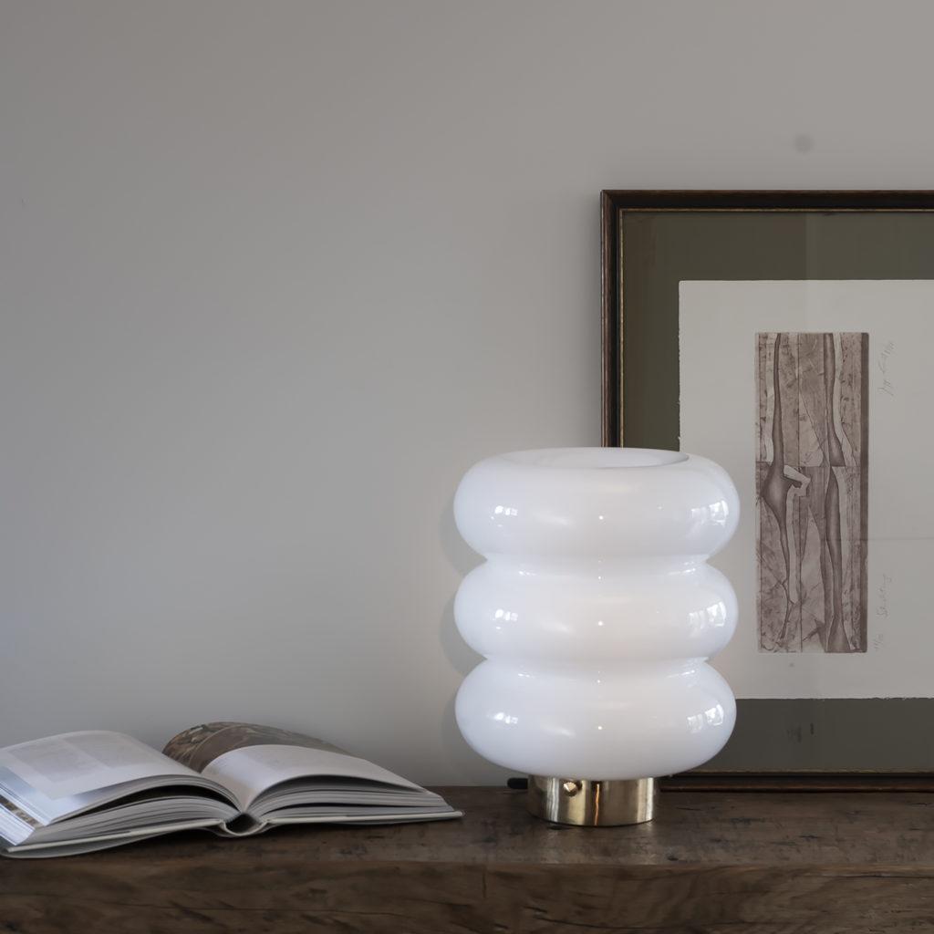 Szklana Lampa Stołowa Bibe