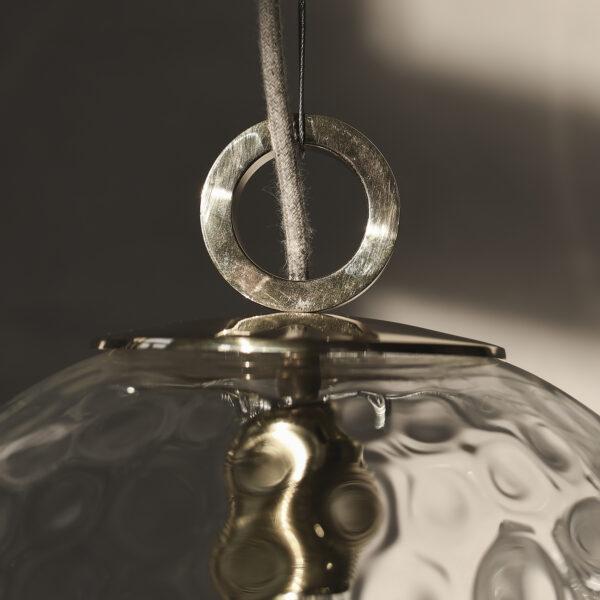 Szklana Lampa Kula Refleksyna z Pierścieniem